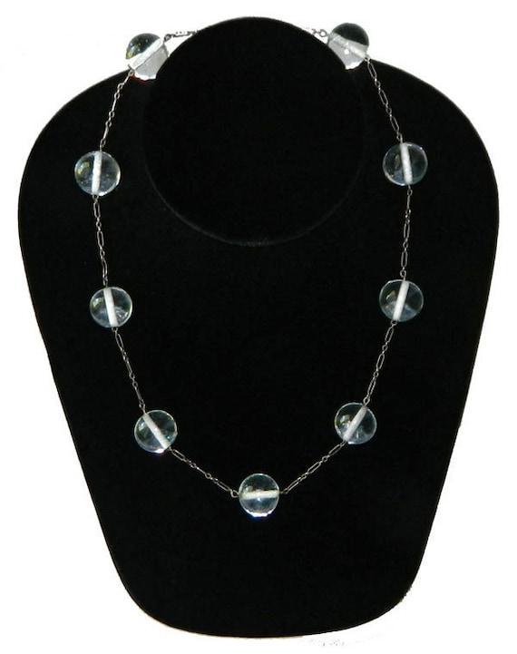 Vintage 1920s Sterling Pools of Light Necklace