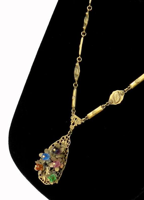 Vintage 1930s Art Deco Pendant Necklace