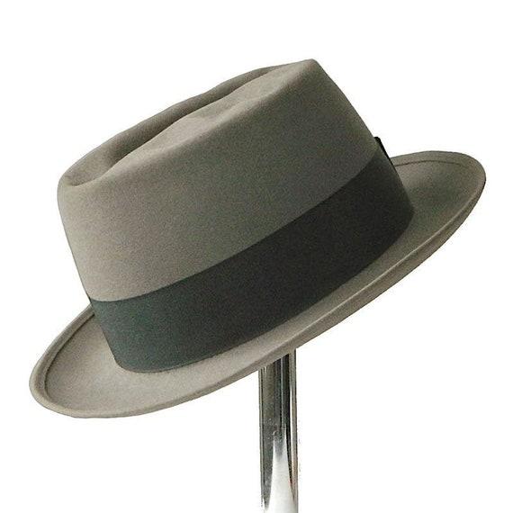 Vintage 1950s Pork Pie Hat Size 7 3/8 - image 1