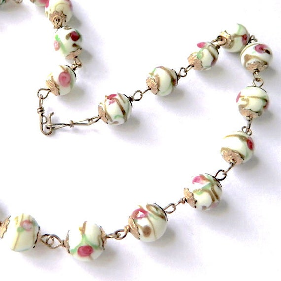 Vintage Italian Venetian Glass Beaded Necklace - image 8