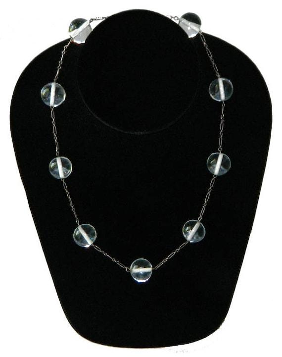 Vintage 1920's Sterling Pools of Light Necklace