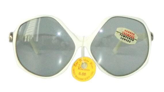Vintage 1970s White Sunglasses Never Worn