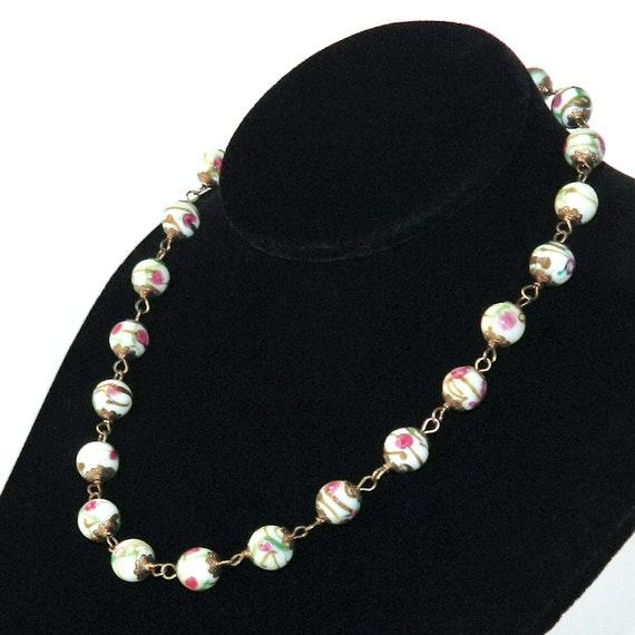 Vintage Italian Venetian Glass Beaded Necklace - image 6