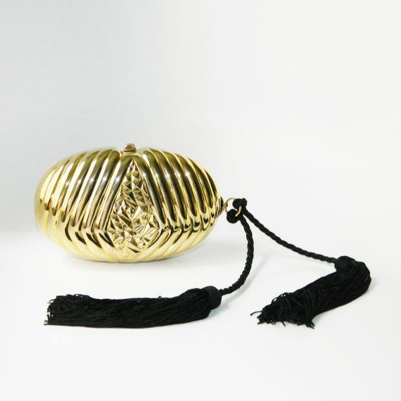 Vintage 1980s Clamshell Clutch Purse - image 5