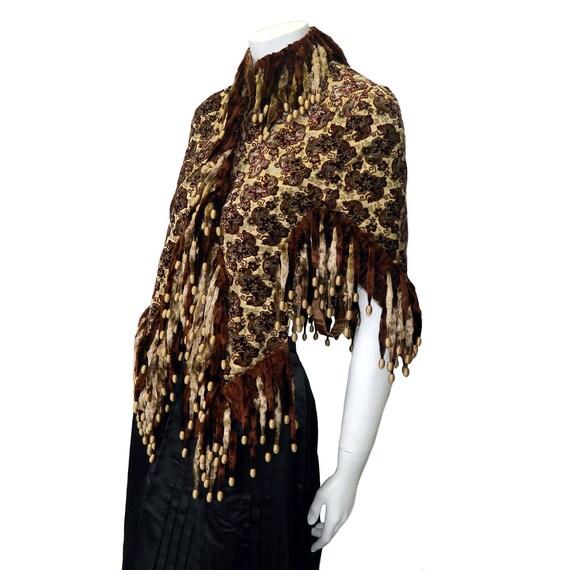 Victorian Silk Cut Velvet Cape