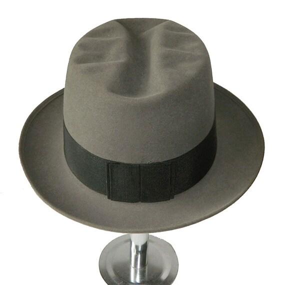 Vintage 1950s Pork Pie Hat Size 7 3/8 - image 5