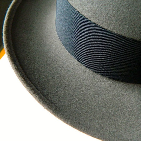 Vintage 1950s Pork Pie Hat Size 7 3/8 - image 4