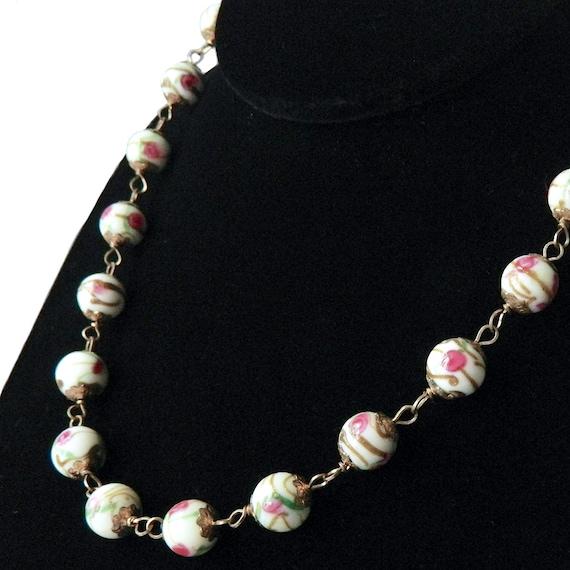 Vintage Italian Venetian Glass Beaded Necklace
