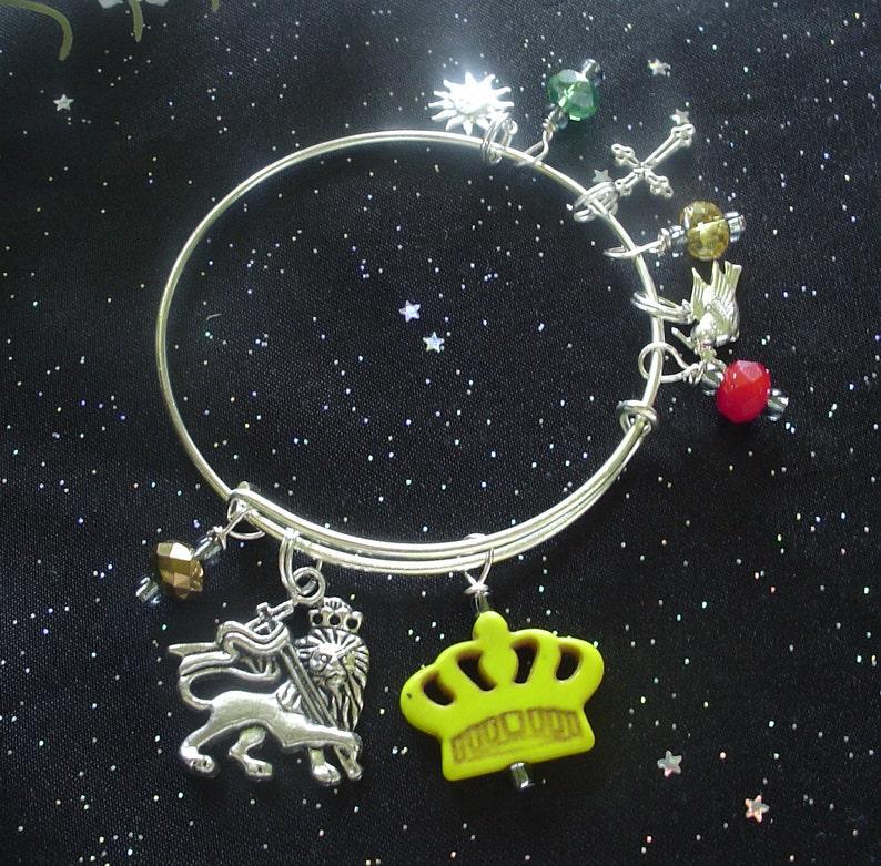 Lion of Judah Expandable and Stackable Bangle Charm Bracelet image 0