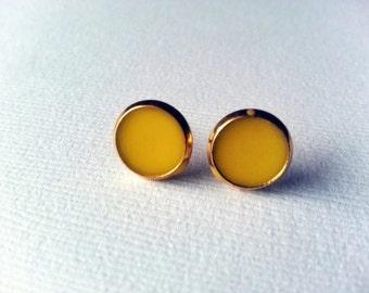 Yellow Earrings - Mustard Yellow Earrings - Yellow Earring - Canary Yellow Earrings