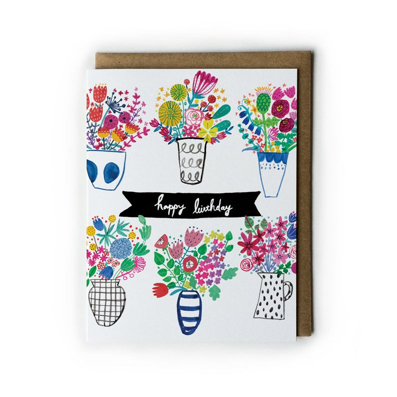 Flower Birthday Card Birthday Cards for Her Watercolor image 0