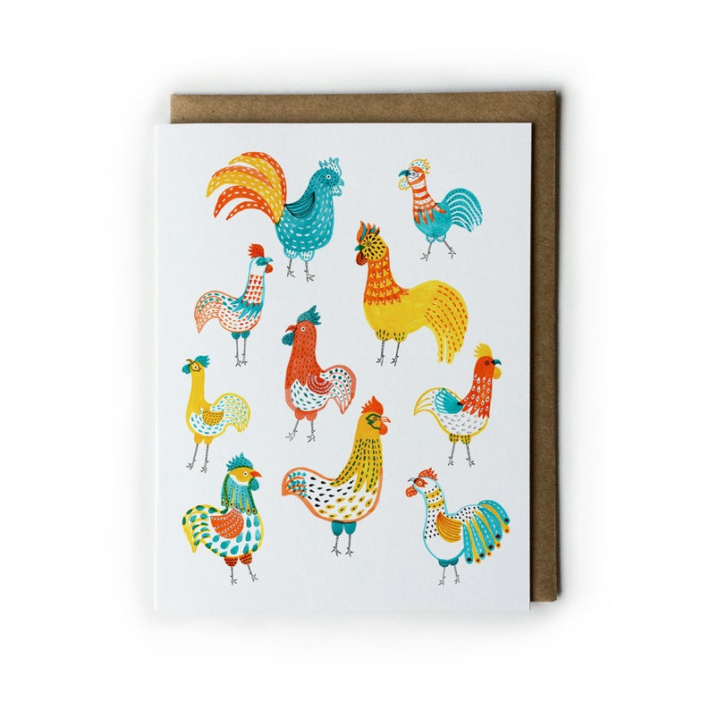Blank Greeting Cards Cute Animal Illustration Watercolor image 0