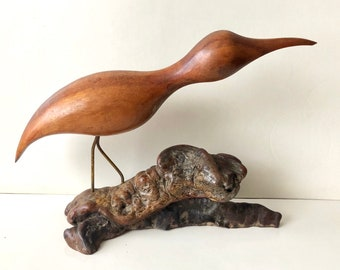 Loons And Turtles And Cranes Oh My >> Hand Carved Crane Etsy