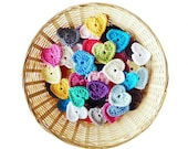 Crochet Hearts - Set of 15 (1.75 inch)