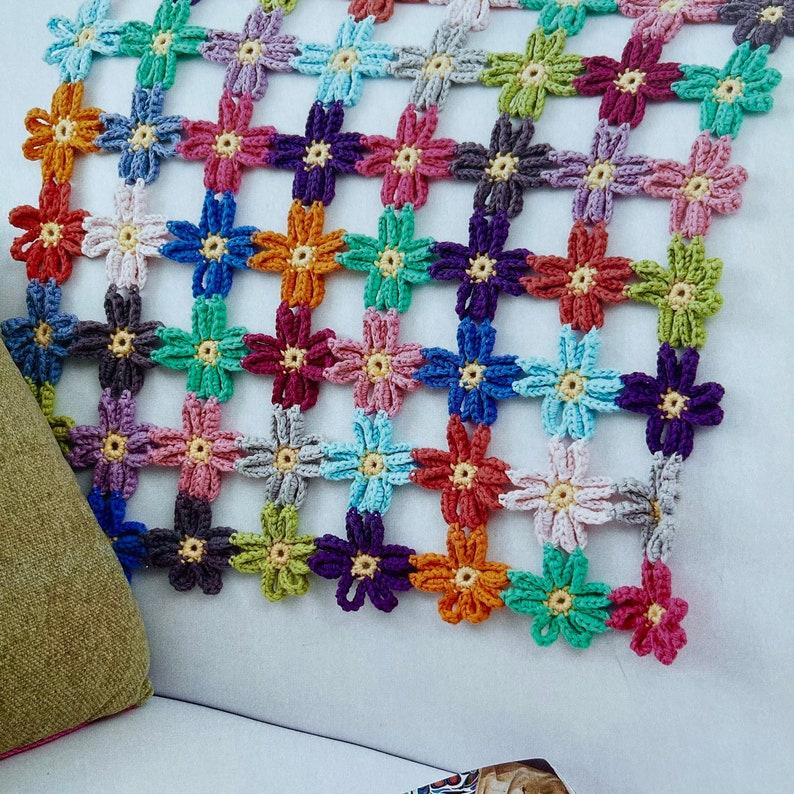 Crochet Flower Baby Blanket Pattern  Instant Download image 0
