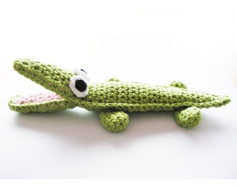 Crochet Crocodile Pattern - Instant Download
