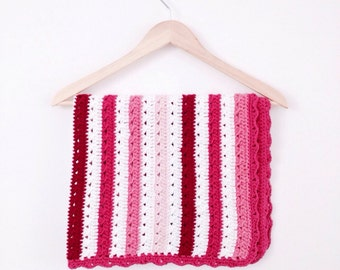 Crochet Cable Blanket Pattern - Instant Download