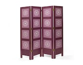 Folding screen, purple