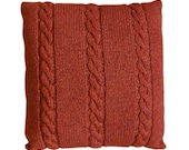 Handknitted Cushion - Terracotta