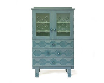 Cabinet with glass in the doors