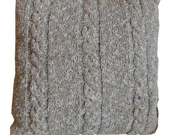 Handknitted Cushion - Beige