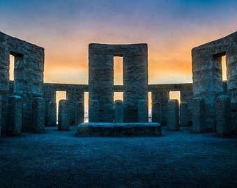 Stonehenge Sunset, Maryhill Washington, Cards With Envelopes, Paper & Party Supplies, Greeting Card, Notecard, Photo Note Card, Note cards