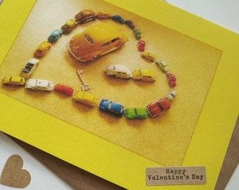 Cars Love Heart - Personalised Card Handmade in Ireland