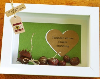 Private listing for Shelley - 5x Framed Conkers and Willow - Handmade in Ireland