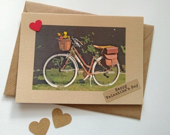 Bicycle Card - Happy Valentine's - Birhtday - Thank you