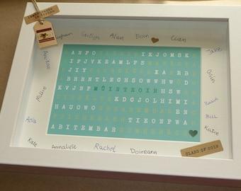 Custom order for Denise - Múinteoir - Irish Word Search Frame - Gift for Teacher