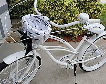 Build a Custom Bike Basket Liner for Small Bike Baskets Including Nantucket, Electra, Sunlite