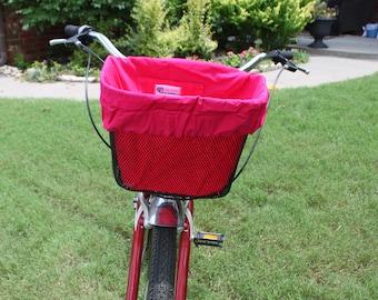 Single sided Bike Basket liner in Bright Pink for Mesh Bike baskets Electra, Bell,