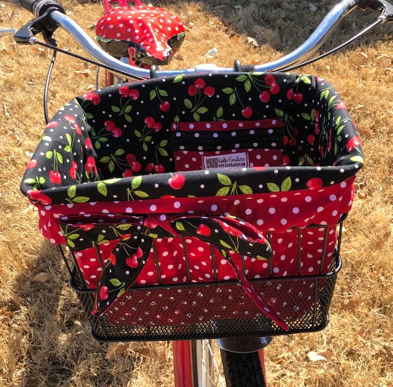 BICYCLE BASKET LINER ORANGE DAISY CRUISER BIKES