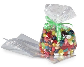 50//100 x Clear Party Gift Chocolate Sweet Popcorn Candy Cello Bags Cellophane
