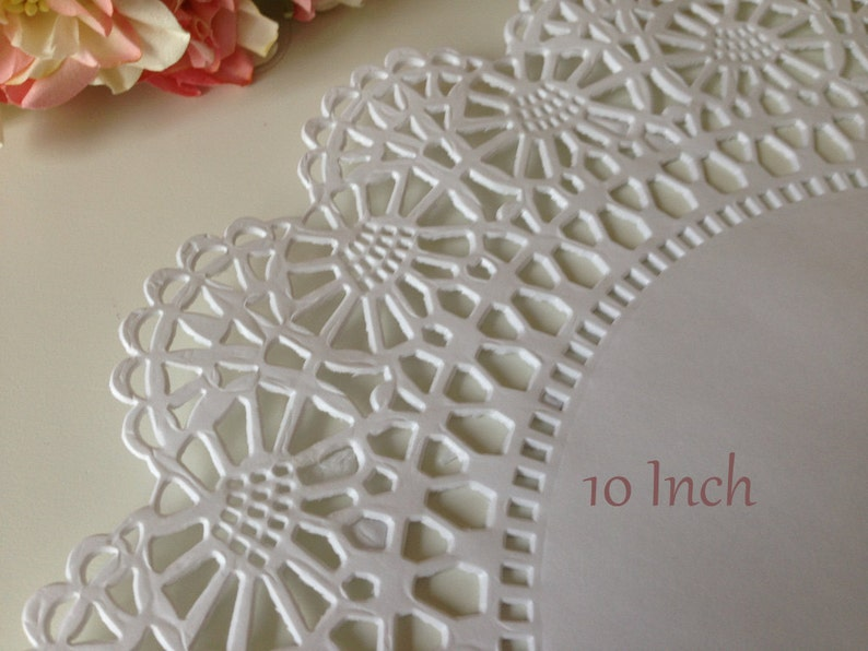 White Paper Doilies Wedding Favors Invitations Scrapbooking Party Decor 25 Bridal Shower 10 Inch