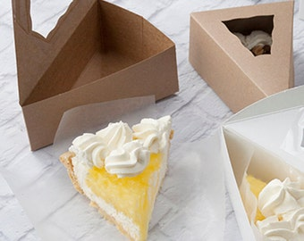 Kraft Individual Pie Box with Window, Bake Sale, Wedding Favors,  20 boxes , Gift Boxes ,Party Favor Boxes