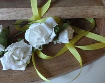 Yellow  Silk Ribbon, small, romantic, beautiful