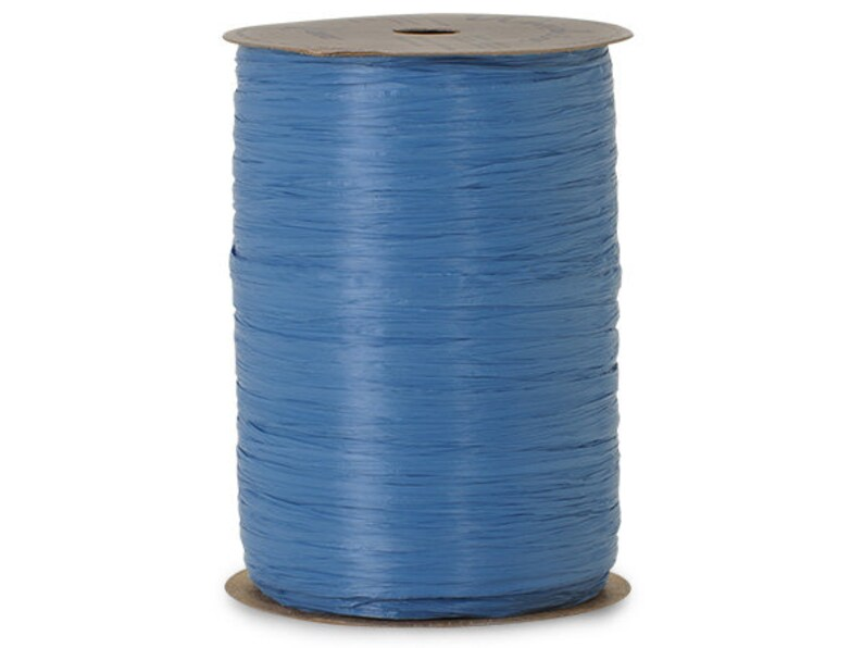 Per Roll Royal Blue Matte Raffia 1//2W x 100 Yds Pack of 2