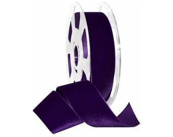"""Royal Purple 1 1/2""""  wide swiss velvet ribbon"""