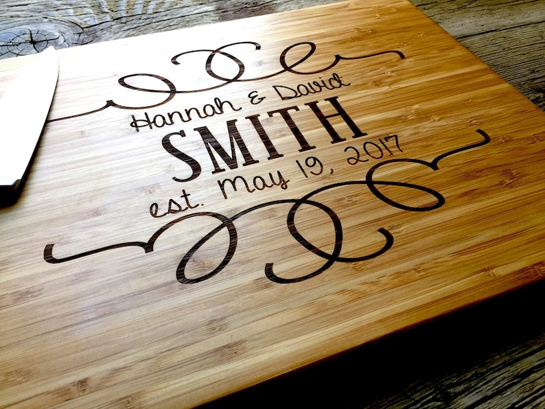 Personalized Cutting Board Engraved Cutting Board Housewarming Gift Anniversary Gift 10/% OFF Personalized Wedding Gift Holiday Sale
