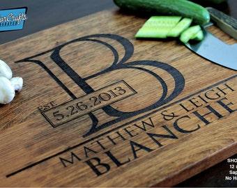 Cutting Board - Custom Cutting Board - Engraved Board - Personalized Board - Rustic Cutting Board - Chopping Board - Wood Cutting Board