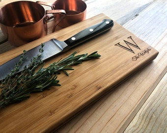 Personalized Cutting Board - Engraved Wood Board - Monogram Board - Wood Cutting Board - Wood Board - Rustic Board - Personalized Board