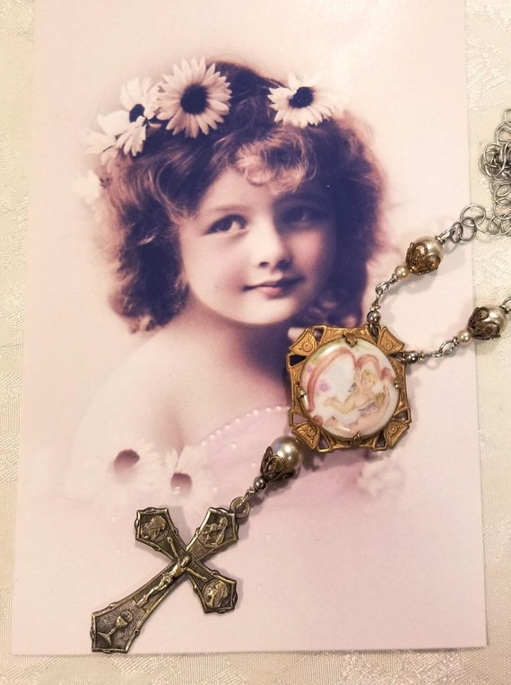Cross and Crystal Necklace Assemblage