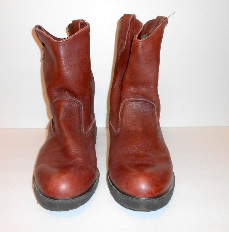Vintage leather boots insulated water resistant barn boots ...