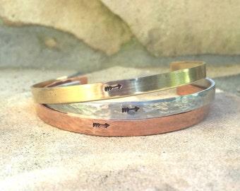 Arrow Bracelet, Skinny Cuff Bracelet, Hammered Cuffs, Personalized Cuffs, Mothers Day Gifts, natashaaloha