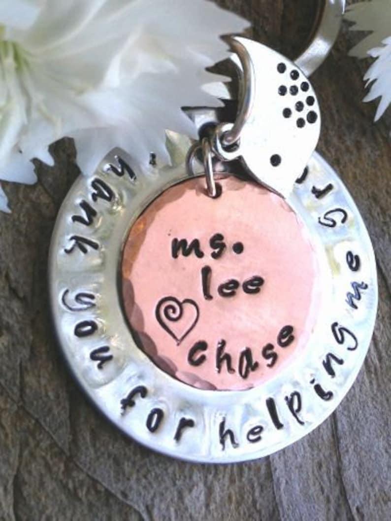 thank you for helping me grow Teacher Gift teacher appreciation teacher gift teacher thank you gift teacher key chain