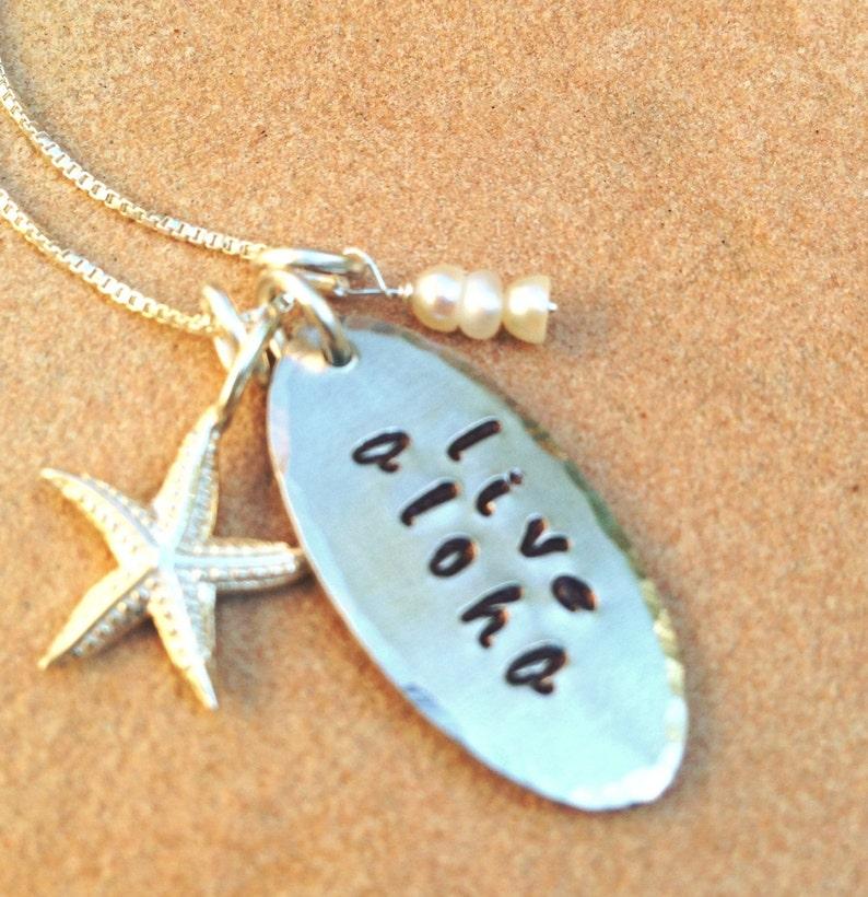 Live Aloha Necklace Hawaiian necklace aloha necklace Aloha image 1