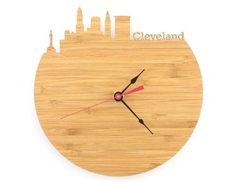 Wall Clock - Cleveland Skyline