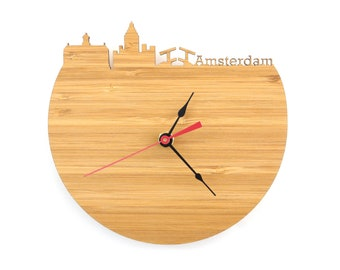 Amsterdam Modern Clock - City Skyline Wall Clock