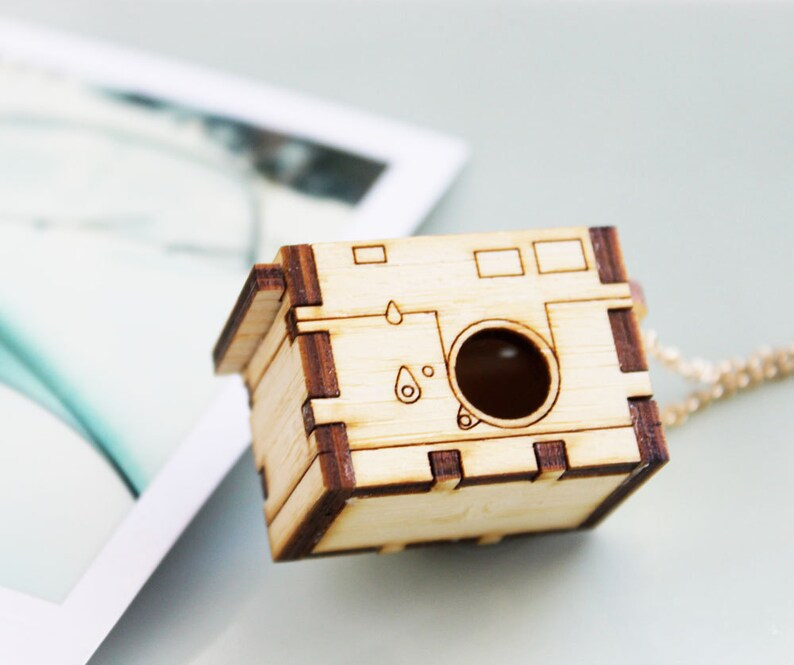 Leica M3 Camera Locket Necklace  Opens and Closes realistic image 0